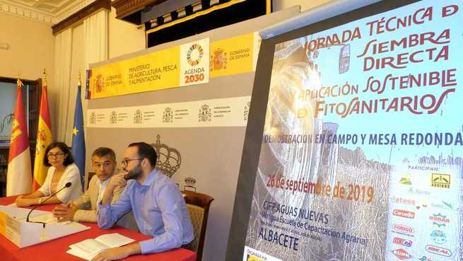 La Diputación de Albacete y su ITAP, protagonistas en la presentación de la Jornada Técnica de siembra directa que el MAPA celebrará el 26 de septiembre en Aguas Nuevas