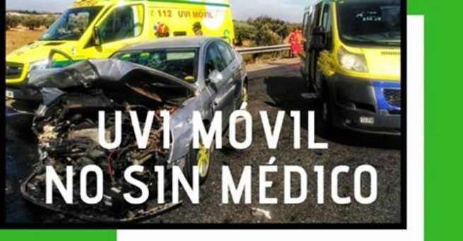 CSIF denuncia que las UVI móviles de Castilla-La Mancha puedan acudir a una emergencia sin médico