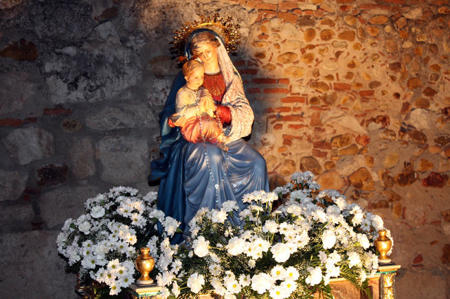 Este próximo fin de semana, fiesta patronal de la Virgen Blanca de Quer