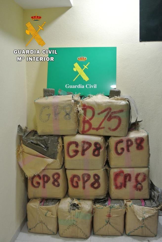 Imagen: Dos detenidos en Tembleque cuando viajaban con 393 kilos de hachís