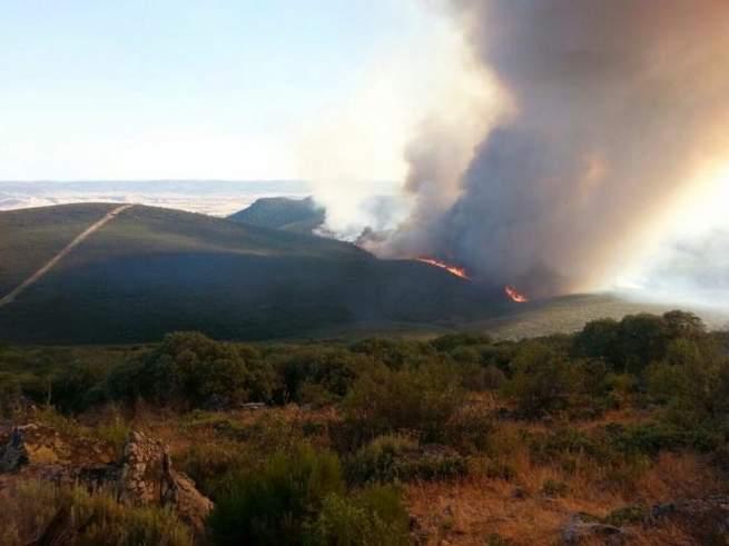 Imagen: Nivel rojo de alerta por altas temperaturas en las sierras de Alcudia, Madrona y Valle del Guadiana