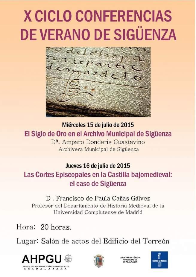 Imagen: El ciclo de conferencias de  verano de la  Asociación de Amigos del Archivo Histórico Provincial llega en 2015 a su décima edición