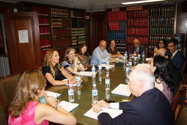 Imagen: Encuentro institucional entre los Colegios de Abogados  de Ciudad Real y Madrid