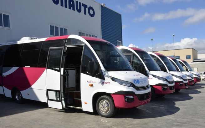 A partir de hoy entran en funcionamiento en Toledo los 5 microbuses que darán servicio a las líneas 2 y 12 aumentando las frecuencias