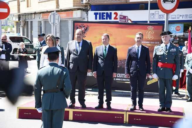 """El presidente García-Page muestra el orgullo de toda la región por la Guardia Civil e insiste en que """"no necesitamos policía autonómica"""""""
