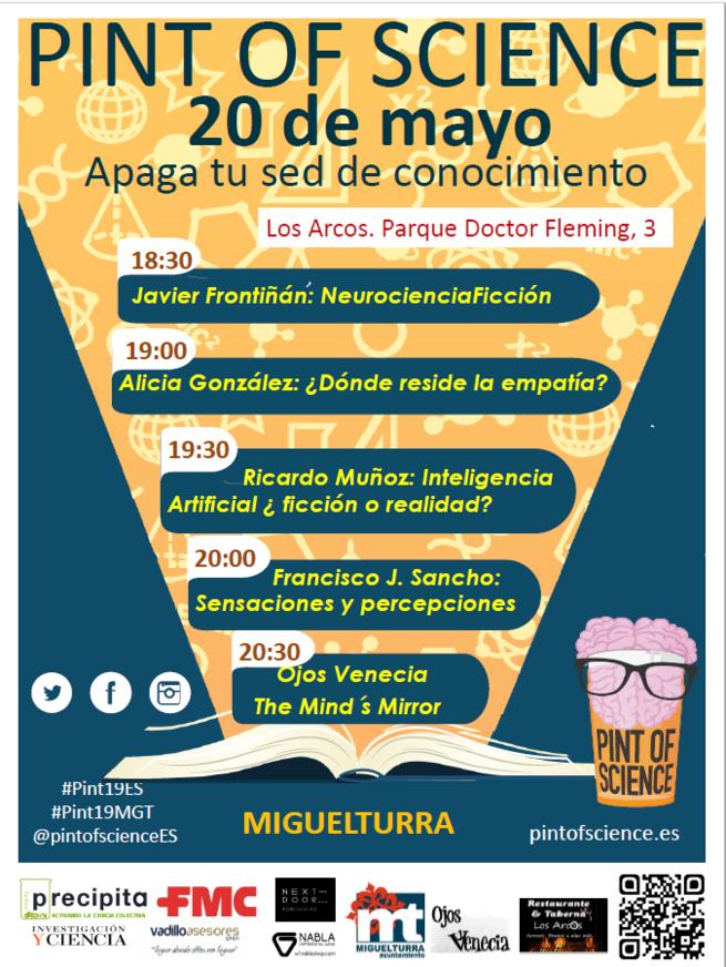 """El Festival """"Apaga tu sed de conocimiento: Pint of Science"""" el 20 de Mayo en Miguelturra"""