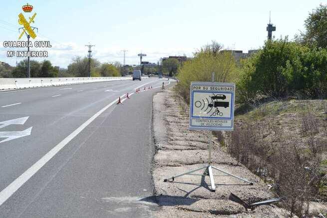 La Guardia Civil de Toledo investiga a una persona por superar la velocidad permitida en 105 km/h