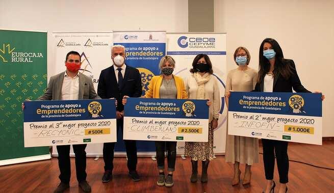 Eurocaja Rural participa en la entrega de premios de la III edición del 'Programa de Apoyo a Emprendedores' de CEOE-CEPYME Guadalajara