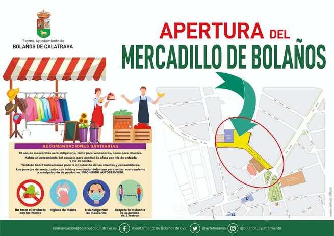 El mercadillo municipal de Bolaños de Calatrava reabrirá el Viernes 30 de Octubre