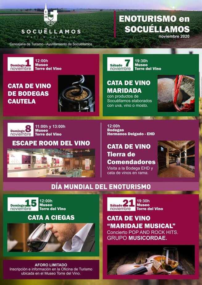 La concejalía de turismo pone en marcha las jornadas 'Enoturismo en Socuéllamos'.