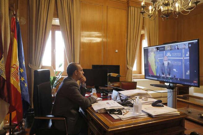 Bellido, en la reunión de trabajo telemática de los parlamentos europeos sobre Desarrollo Sostenible