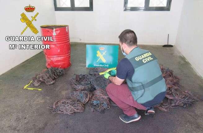 La Guardia Civil investiga a un grupo de seis personas que se dedicaban al robo de cable de cobre
