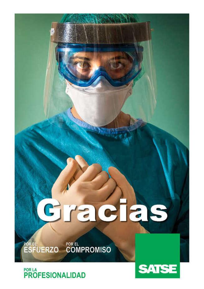 SATSE inicia una campaña en Castilla-La Mancha para agradecer el trabajo de enfermeras y fisioterapeutas frente a la Covid-19