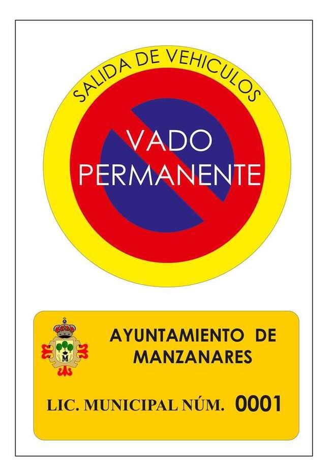 La Policía Local inicia una campaña de vigilancia de los vados permanentes en Manzanares