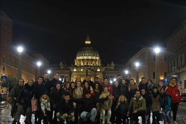 Peregrinación de la pastoral universitaria de Toledo a Roma