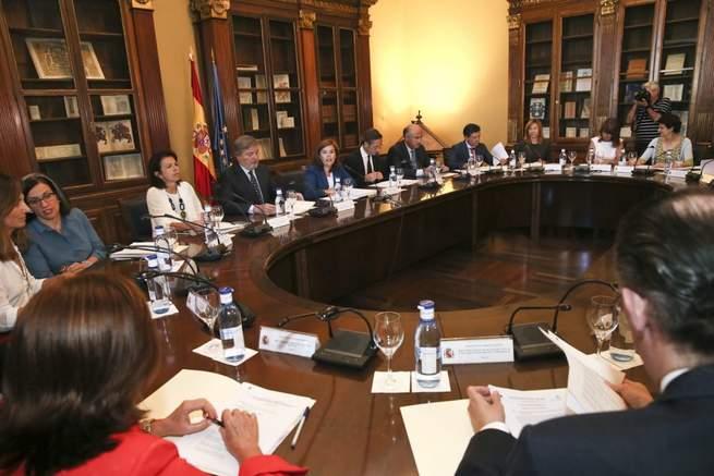 Imagen: La consejera de Cultura asiste a la reunión de constitución del Pleno de la Comisión para el IV Centenario de la muerte de Cervantes