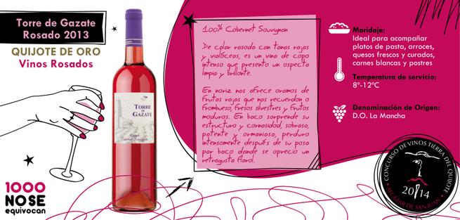 imagen de Aval de calidad para 'Torre de Gazate Rosado 2013', un vino sabroso y aromático con matices exóticos