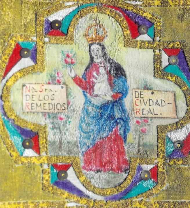 Fiel reprodución de la antigua pintura de Nuestra señora de los Remedios, realizada por el cronista de Ciudad Real, Julian Alonso, en los años cuarenta del siglo XX
