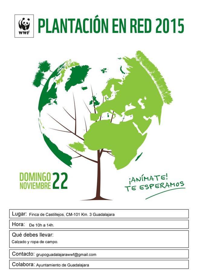 Imagen: El Ayuntamiento de Guadalajara colabora en la Plantación en Red 2015 organizada por WWF
