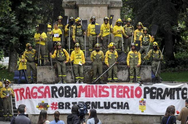 Imagen: Tragsa y los representantes de los trabajadores de las BRIF se conceden diez días de tregua