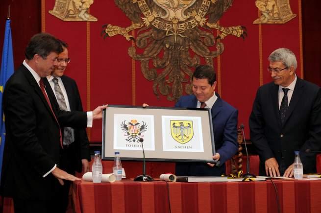 imagen de Toledo y Aquisgrán conmemoran el XXX Aniversario de su Hermanamiento como antecedente de la unidad europea