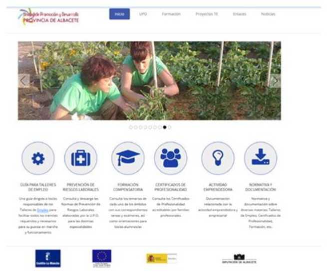 imagen de La unidad de promoción y desarrollo de la provincia de Albacete, estrena nueva web