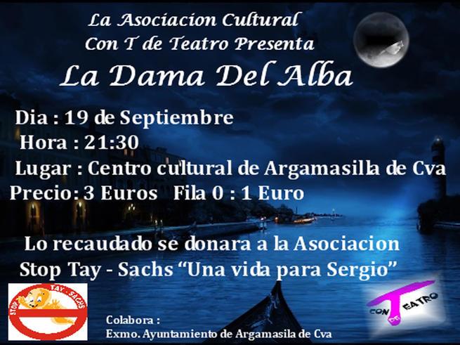 imagen de El Ayuntamiento de Argamasilla de Calatrava anima asistir al teatro el próximo viernes