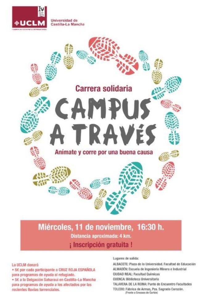 Imagen: La UCLM celebra el 11 de noviembre de forma simultánea en todas sus sedes la carrera solidaria Campus a Través