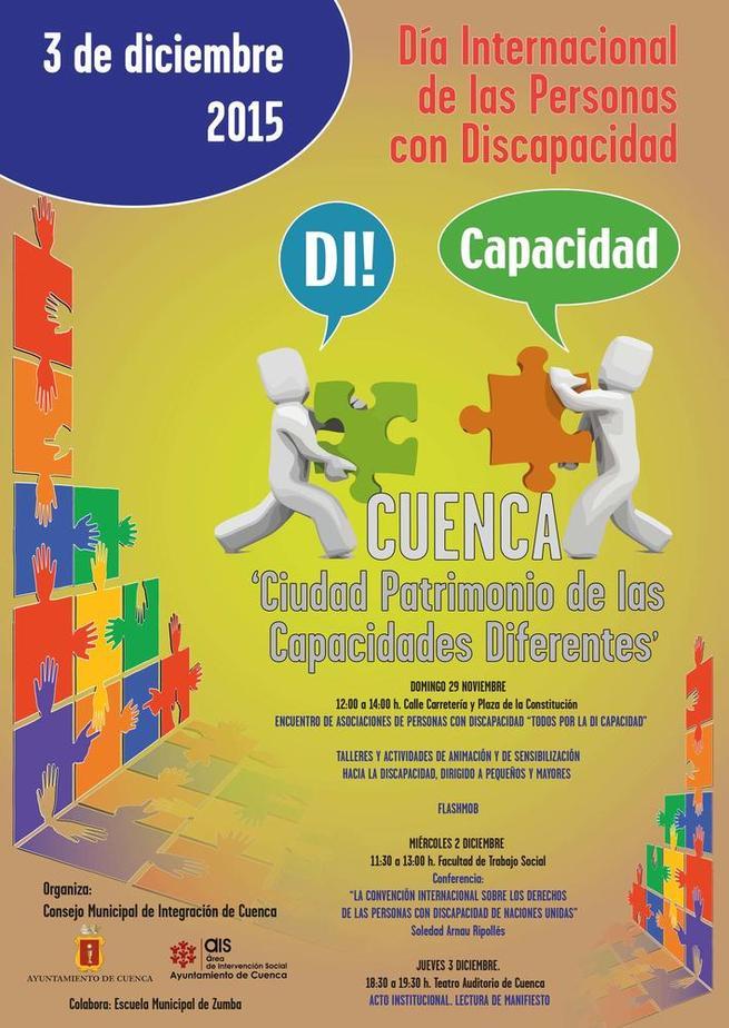 Imagen: Cuenca organiza diversas actividades para concienciar y sensibilizar con motivo del Día Internacional de las Personas con Discapacidad