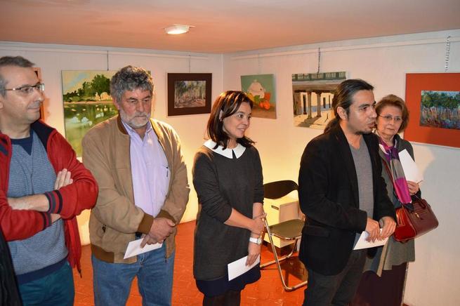 Imagen: Pilar Zamora entrega los premios del concurso de la Asociación de Amigos de la Pintura López Villaseñor