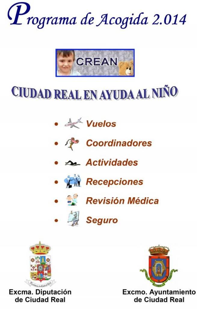 Programa acogida CREAN para el 2014
