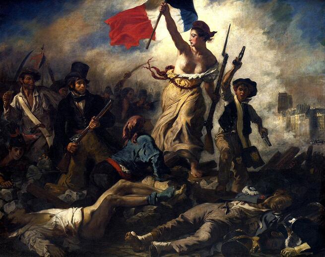 imagen de La Libertad guiando al pueblo