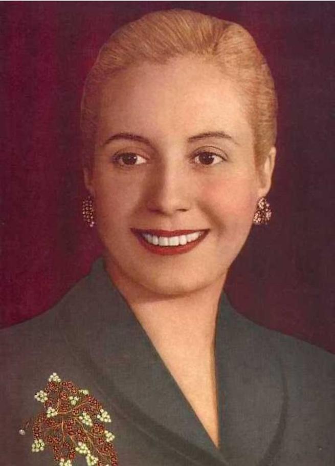 Imagen: Mujeres que dejaron huella en la historia. Eva Perón