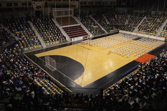 Imagen: 1.570 aspirantes se examinan en el Quijote Arena  para la Bolsa de Operarios de Servicios Múltiples