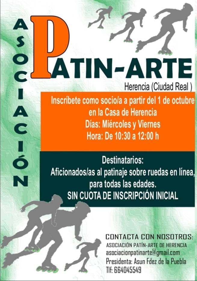 imagen de Herencia crea la Asociación Patin-Arte para potenciar su gran afición al patinaje