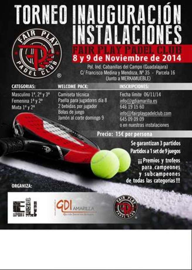 """imagen de I Torneo de padel """"Inauguración Instalaciones Fair Play Padel Club"""