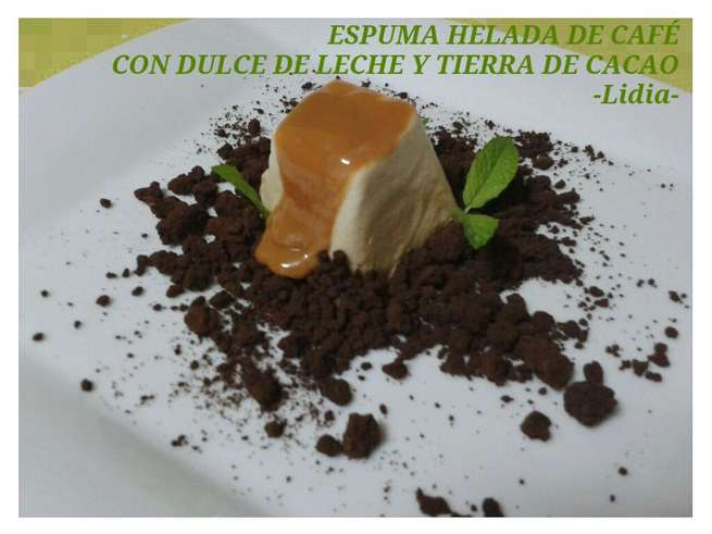 imagen de En Objetivo DELICIOSO pastel de verduras y espuma helada de café con dulce de leche