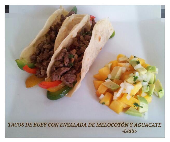 imagen de En Objetivo Delicioso Tacos de Buey y sopa de miel, naranja y jengibre con galleta