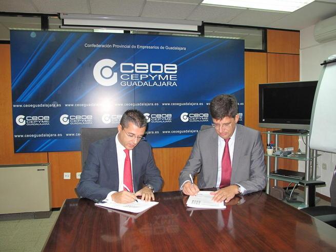 Imagen: La UAH y CEOE-CEPYME Guadalajara firman un convenio para facilitar las prácticas laborales a los universitarios en empresas de la provincia de Guadalajara
