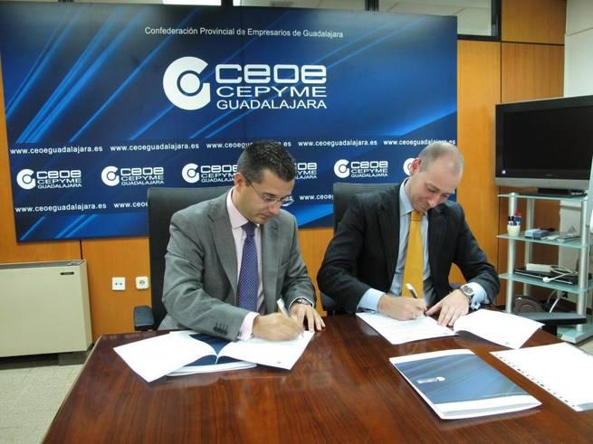 Imagen: CEOE-CEPYME Guadalajara y Prodatos renuevan su convenio de colaboración