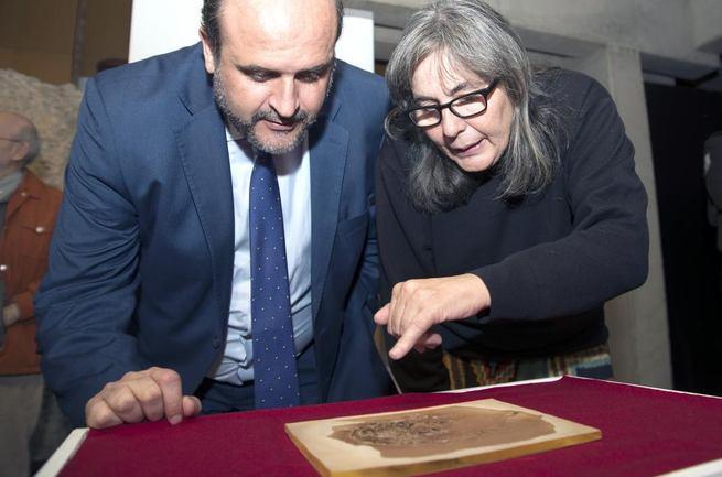 """Imagen: """"Este fósil es el Greco de la Paleontología de Castilla-La Mancha y queremos sacarle el máximo rendimiento"""""""