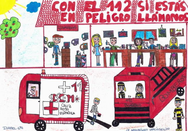 Imagen: El Gobierno regional convoca el IV concurso de dibujo del 112 para escolares de Educación Primaria de Castilla-La Mancha