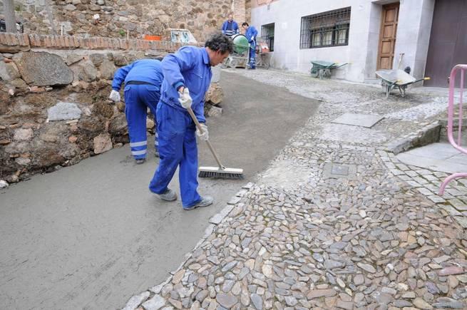 imagen de Obras de pavimentación en la Plaza de Barrionuevo en Toledo