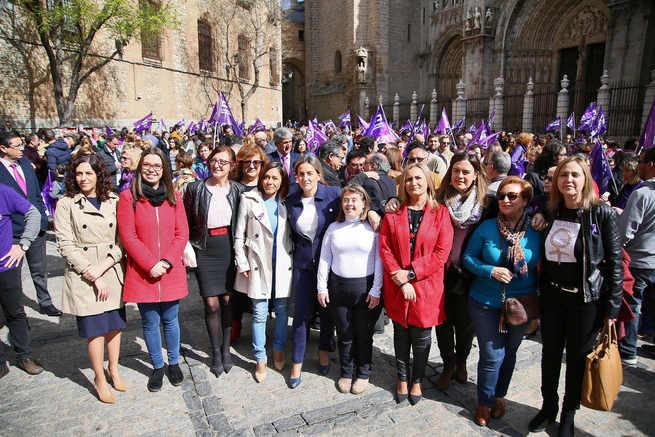 """La alcaldesa de Toledo, Milagros Tolón: """"Hoy es un día de reivindicaciones, de lucha y de poner en valor lo que se ha hecho y lo que aún queda por hacer"""""""