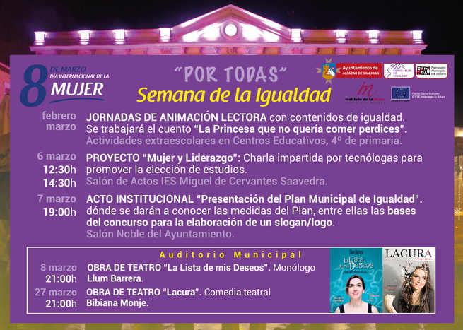Semana de la Igualdad. Alcázar de San Juan presenta el Plan Municipal de Igualdad