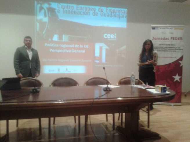 imagen de Los técnicos del CEEI de Guadalajara se trasladan hasta trillo para explicar los fondos FEDER