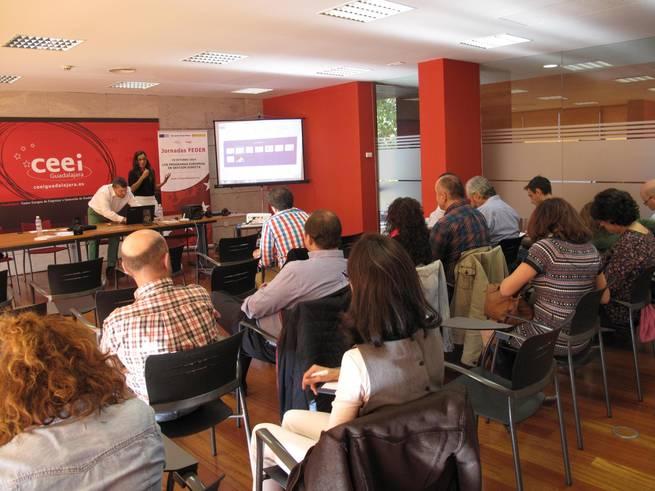 imagen de  El programa ERASMUS PLUS centra la jornada de los fondos FEDER en el CEEI de Guadalajara