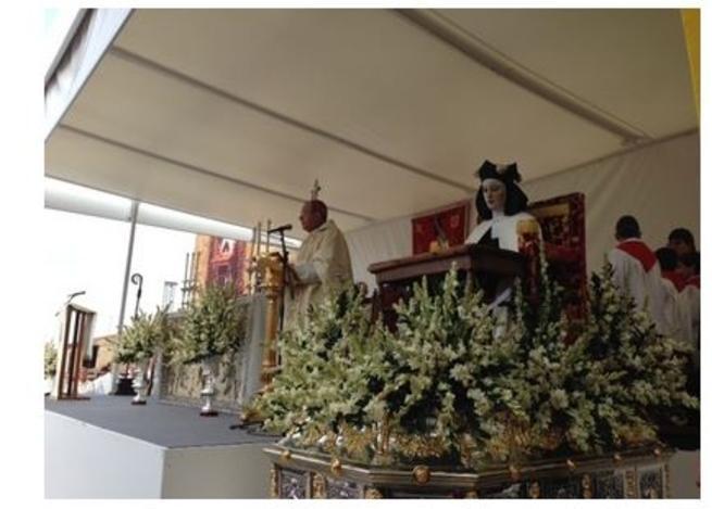 imagen de El Obispo de la Diócesis de Ciudad Real presidió la misa en honor a Santa Teresa en Malagón.