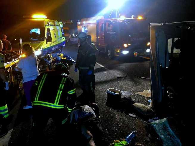 El SEPEI interviene en un accidente de tráfico producido esta madrugada en la A-31 a la altura de Montalvos en el que no ha habido que lamentar víctimas mortales