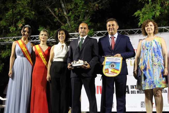 El Inspector de Policía Miguel Ángel Rodrigañez pregonó las fiestas de Cinco Casas recordando la importancia que tuvo el fútbol para unir pueblo viejo y pueblo nuevo